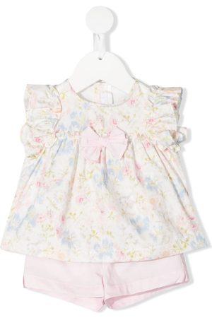 Il gufo Floral pattern shorts dress