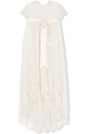 Dolce & Gabbana Meisjes Feestjurken - Bow-detail lace dress
