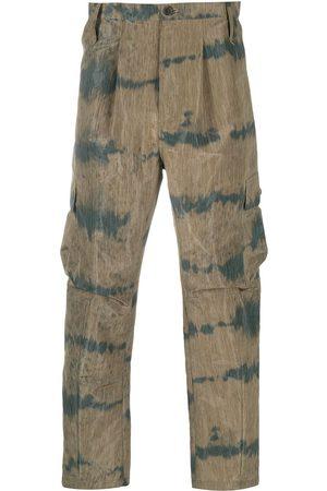 HENRIK VIBSKOV Heren Cargo's - Two-tone cropped cargo trousers
