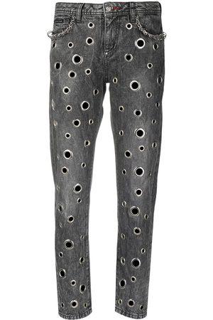 Philipp Plein Ring-detail boyfriend jeans