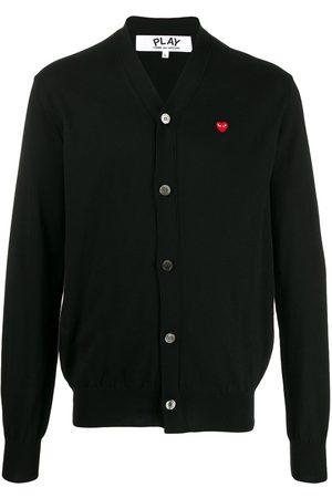 Comme des Garçons Heart logo V-neck cardigan