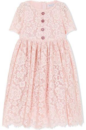 Dolce & Gabbana Round-neck lace dress