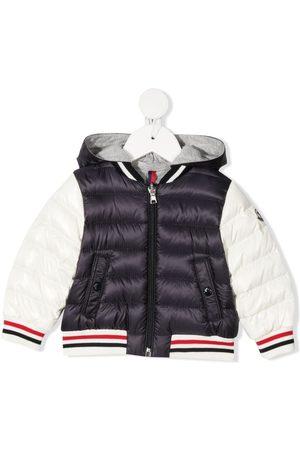 Moncler Striped-trim padded jacket