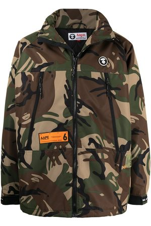 AAPE BY A BATHING APE Camouflage-print zip-through jacket
