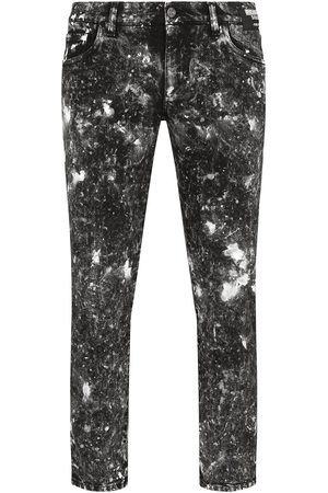Dolce & Gabbana Cropped bleach-effect distressed jeans