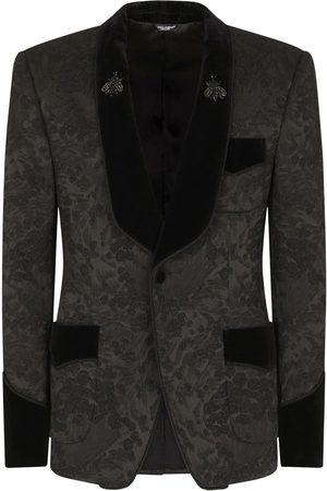 Dolce & Gabbana Heren Blazers - Floral jacquard single-breasted blazer
