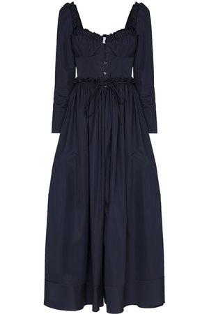 Rosie Assoulin Winter Garden Party cotton midi dress