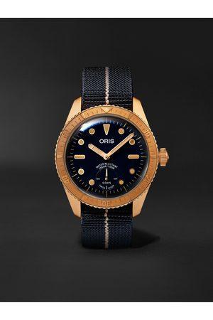 Oris Carl Brashear Limited Edition Automatic 40mm Bronze and MN Stretch-Nylon Webbing Watch, Ref. No. 01 401 7764 3185-Set