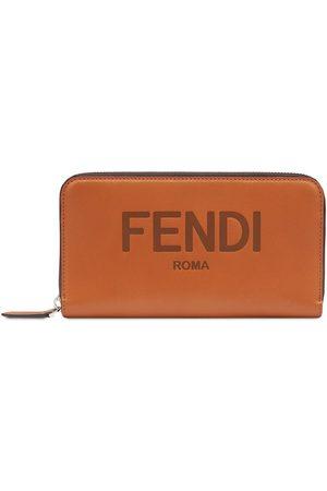 Fendi Zip-around logo wallet