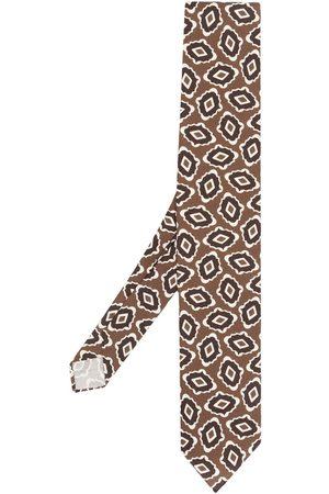 LARDINI Heren Vlinderdassen - Abstract-print pointed tie