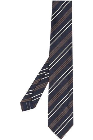 LARDINI Heren Vlinderdassen - Stripe-pattern silk tie