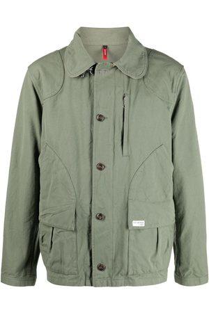FAY Colour-block cotton jacket
