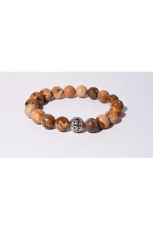 Mr.FRILL Mr. frill handmade bracelet picture jasper stone brown