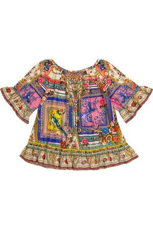 Camilla Printed cotton and silk dress