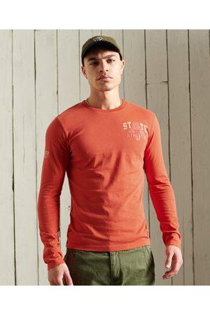 Superdry Heren Lange mouw - Overdye Collegiate topje met lange mouwen