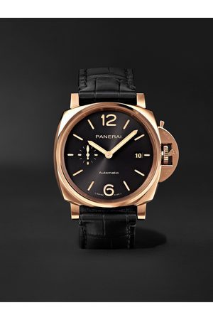 PANERAI Heren Horloges - Luminor Due Automatic 42mm Goldtech and Alligator Watch, Ref. No. PAM01041