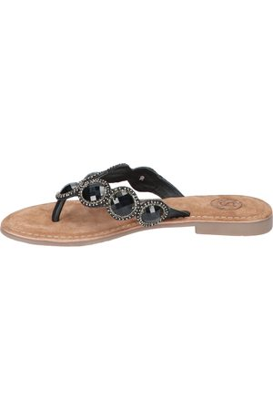 Si Dames Slippers - Mirre Black Slippers