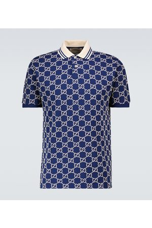 Gucci Heren Poloshirts - Short-sleeved monogrammed polo