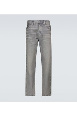 Tom Ford Heren Slim - Tapered-fit selvedge jeans