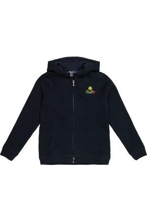 Loro Piana Horsey zip-up cotton fleece hoodie