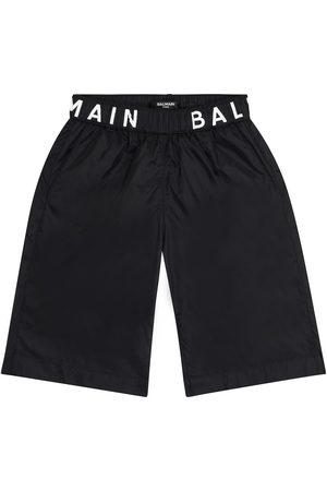 Balmain Logo swim trunks