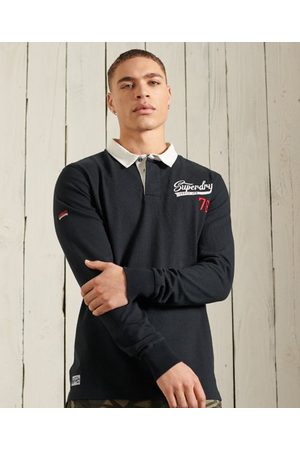 Superdry Heren Overhemden - Jersey Rugby overhemd met lange mouwen