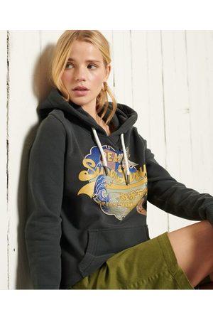 Superdry Dames Hoodies - Vintage Logo hoodie met loopback-voering