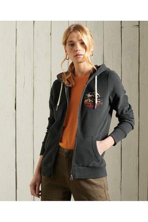 Superdry Dames Hoodies - Vintage Logo hoodie met rits en loopback-voering