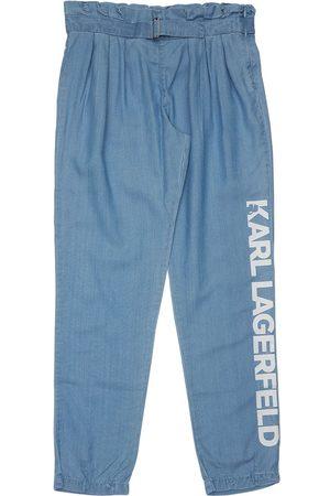 Karl Lagerfeld Meisjes Leggings - High Waist Lyocell Pants