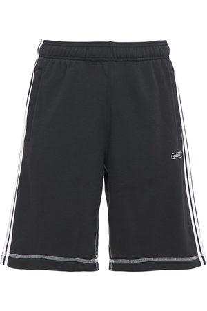 adidas Heren Sport - Contrast Cotton Blend Sweat Shorts