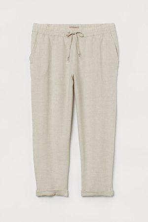H&M Dames Pullovers - + Linnen pull-on broek