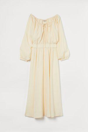 H&M + Maxi-jurk van linnenmix