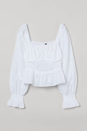 H&M Bloes met broderie anglaise