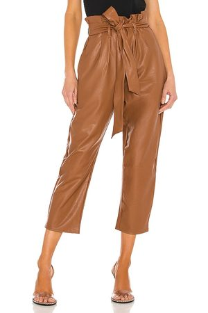 Commando Dames Leggings - Faux Leather Paperbag Pant in