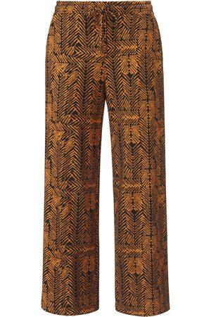 Green Cotton Enkellange broek 100% katoen zigzag-print Van