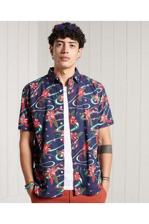 Superdry Heren Overhemden - Hawaï-overhemd met wijdvallende pasvorm