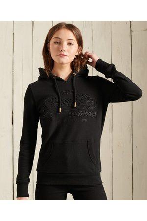 Superdry Geborduurde Infill Loopback hoodie met Vintage logo