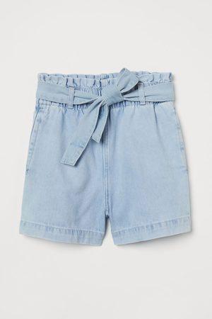 H&M Jeansshort met striklint