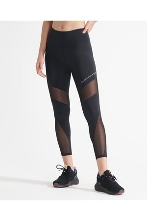 Superdry Dames Leggings - Sport Training 7/8 legging van mesh