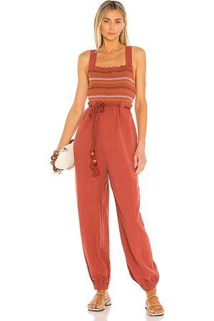 Free People Sienna Smocked Jumpsuit in
