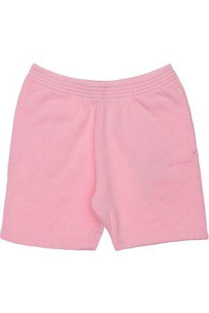 Balenciaga Logo Print Cotton Sweat Shorts