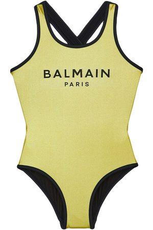 Balmain Meisjes Badpakken - Logo Printed One Piece Swimsuit