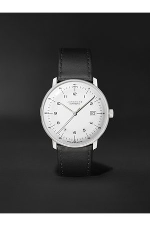 Junghans Max Bill Automatic 38mm Stainless Steel and Leather Watch, Ref. No. 027/4700.02