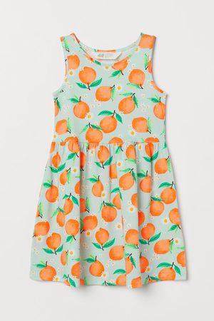 H&M Tricot jurk met dessin - Turquoise