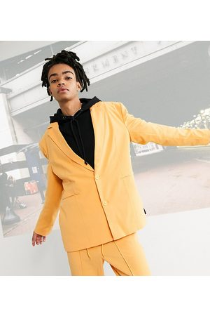 COLLUSION Unisex oversized dad blazer in orange