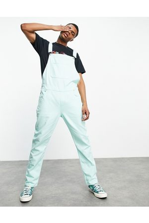 ASOS Denim dungarees in washed green