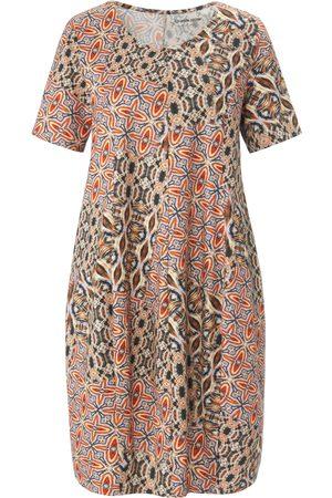 Green Cotton Dames Geprinte jurken - Jerseyjurk 100% katoen print Van