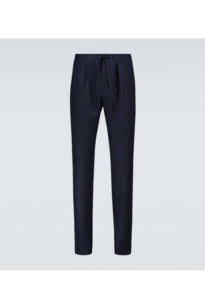 Incotex Linen drawstring pants