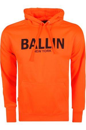 Ballin Heren hoodie sweat neonoranje zwart