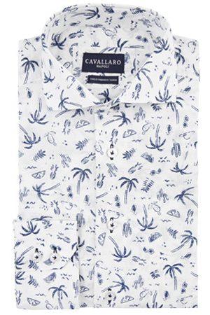 Cavallaro Napoli Heren Overhemden - Overhemd print blauw